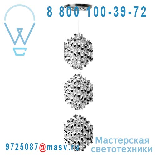 107955001055 Suspension Argent 3 spheres - SPIRAL Verpan