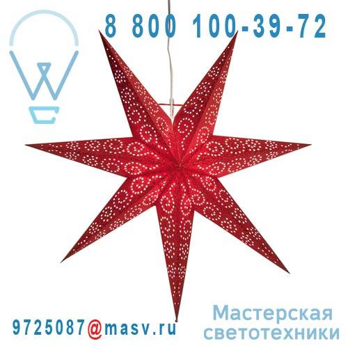 236-72 Etoile lumineuse 60cm Rouge - ANTIQUE Xmas Living Glass