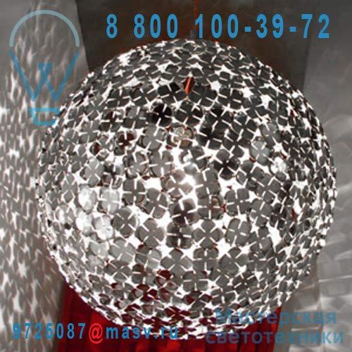 "OM46SE7C8 Suspension ronde Argent - ORTEN""ZIA Terzani"