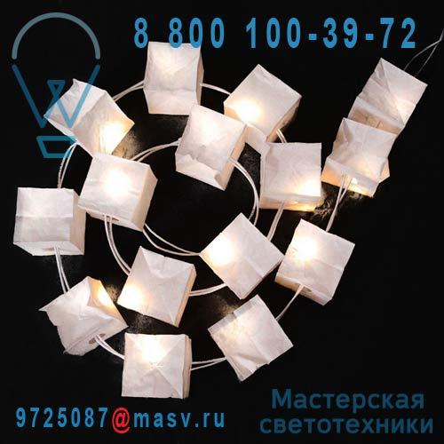 0907 15 cubes lumineux blancs 1,5m - GUIRLANDE CUBISTE Tse & Tse