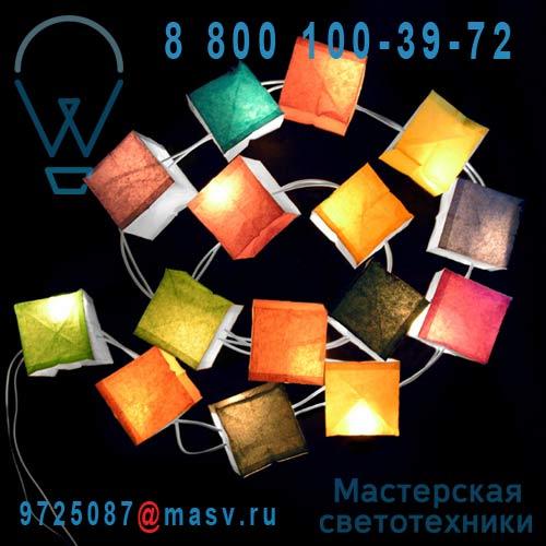 0905 15 cubes lumineux multicolores 1,5m - GUIRLANDE CUBISTE Tse & Tse