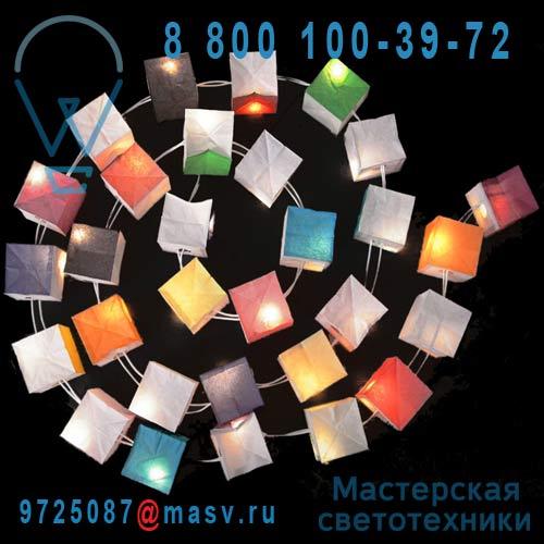 0901 30 cubes lumineux multicolores 3m - GUIRLANDE CUBISTE Tse & Tse