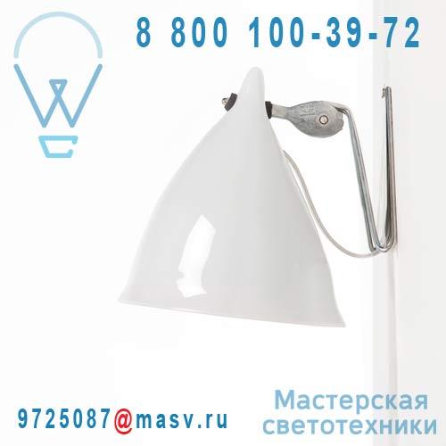 0787 Applique porcelaine Blanc emaille - CORNETTE Tse & Tse