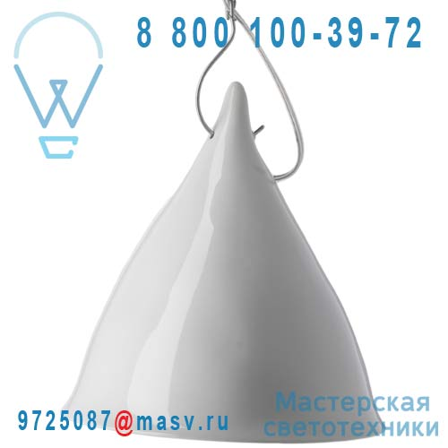 0740 Suspension porcelaine Blanc emaille O26cm - CORNETTE Tse & Tse