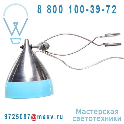 0743 Lampe a pince alu et bleu - CORNETTE Tse & Tse