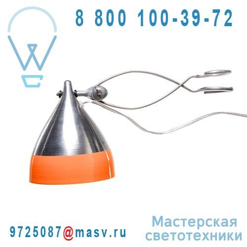0745 Lampe a pince alu et orange - CORNETTE Tse & Tse