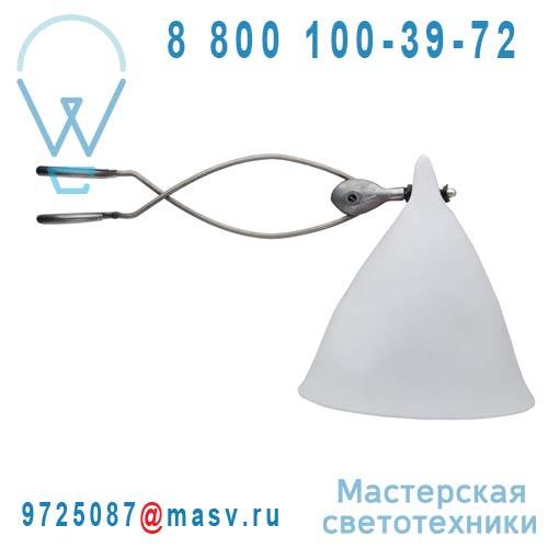 0702 Lampe a pince porcelaine Blanc mat - CORNETTE Tse & Tse