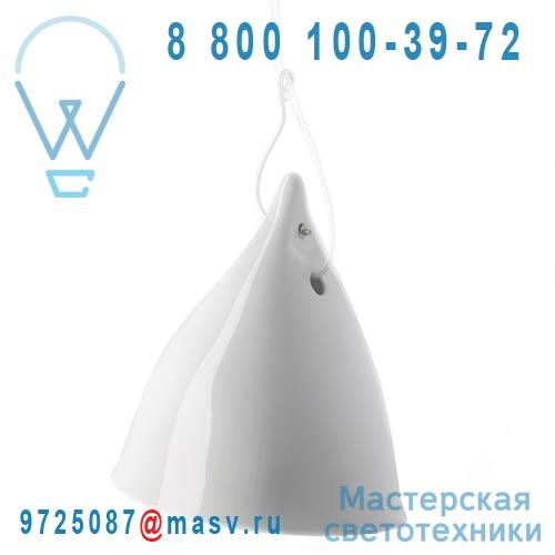 0703 Suspension porcelaine Blanc emaille O16cm - CORNETTE Tse & Tse