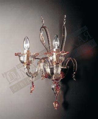 7055 A2 серебро-прозрачный,рубиновый,золотой,De Majo