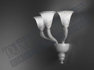 De Majo настенный светильник 8001 A2 золото-молочно-белое стекло с сусальным золотом