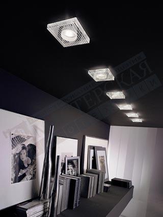 0ARNO0F00 De Majo Arno F0 точечный светильник -прозрачно-зеркальное стекло с пескоструйной обработкой