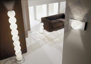 напольный светильник Perlage R9 глянцевый белый-, E14, E27 8x42+;50,De Majo