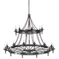 WR18 GRAPHITE Warwick 18Lt Chandelier Graphite Elstead Lighting, потолочная люстра