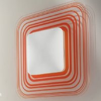 Aureliano Toso Cora 35 Parete/Soffitto Orange