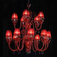 Большие люстры Beby 7700B05 Red sensuelle