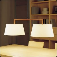 Подвесной светильник Bover LUA 2 LUCES 4222960 Темный никель
