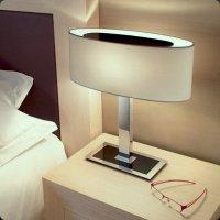 Настольная лампа Bover MEI OVAL-T 2125023 Черный хром