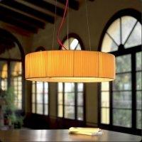 Подвесной светильник Bover TEKNO CP 4118856 Никель-белый хлопок