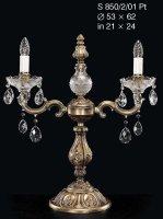 Настольная лампа ELITE BOHEMIA S 850/2/01 Pt