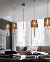 Подвесной светильник Morosini Evi Style Gadora S4L Golden Teak