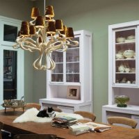 Люстра Jacco Maris Ode 1647 OD15CH.SI gold lampshades