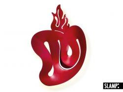 Бра Slamp Illuminati ILL14APPC001R_000, в форме сердца, красного