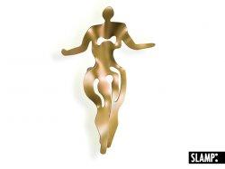 Бра Slamp Illuminati ILL14APPD001O_000, форма женщины, золотого