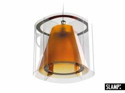 Подвесной светильник Slamp New Harris HAR42SOS0000AT, янтарь