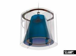 Подвесной светильник Slamp New Harris HAR42SOS0000BT, аквамарин
