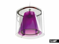 Подвесной светильник Slamp New Harris HAR42SOS0000HT, сиреневый