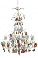 Люстра Tredici Design 1325.16FG кремовый серебряный