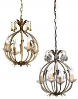 Подвесной светильник Tredici Design 1327.4F серебристо-коричневы