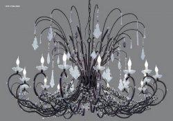 Люстра Tredici Design 1329.17CR HIGH черно-коричневый