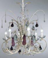 Люстра Tredici Design 1329.6CRA бело-золотой