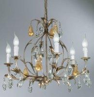 Люстра Tredici Design 1346F серебристо-золотой