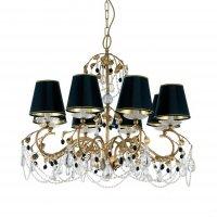 Люстра Tredici Design 1355.8 CP черно-золотой