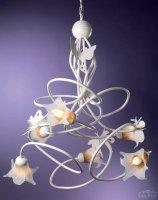 Подвесной светильник Tredici Design 1403.6 VE бело-золотой