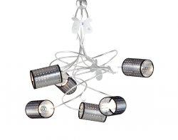 Подвесной светильник Tredici Design 1404.6CP серебристый