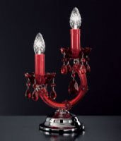 Настольная лампа Voltolina Abat-jour Vienna 2L Cromo ROSSO