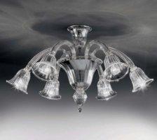 Потолочный светильник Voltolina Laguna plaf. 6L CRISTALLO