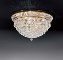 Потолочный светильник Voltolina New Orleans plafoniera 40 Oro