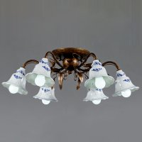 Потолочная люстра Wunderlicht Porcelanova WLCL1821-6C