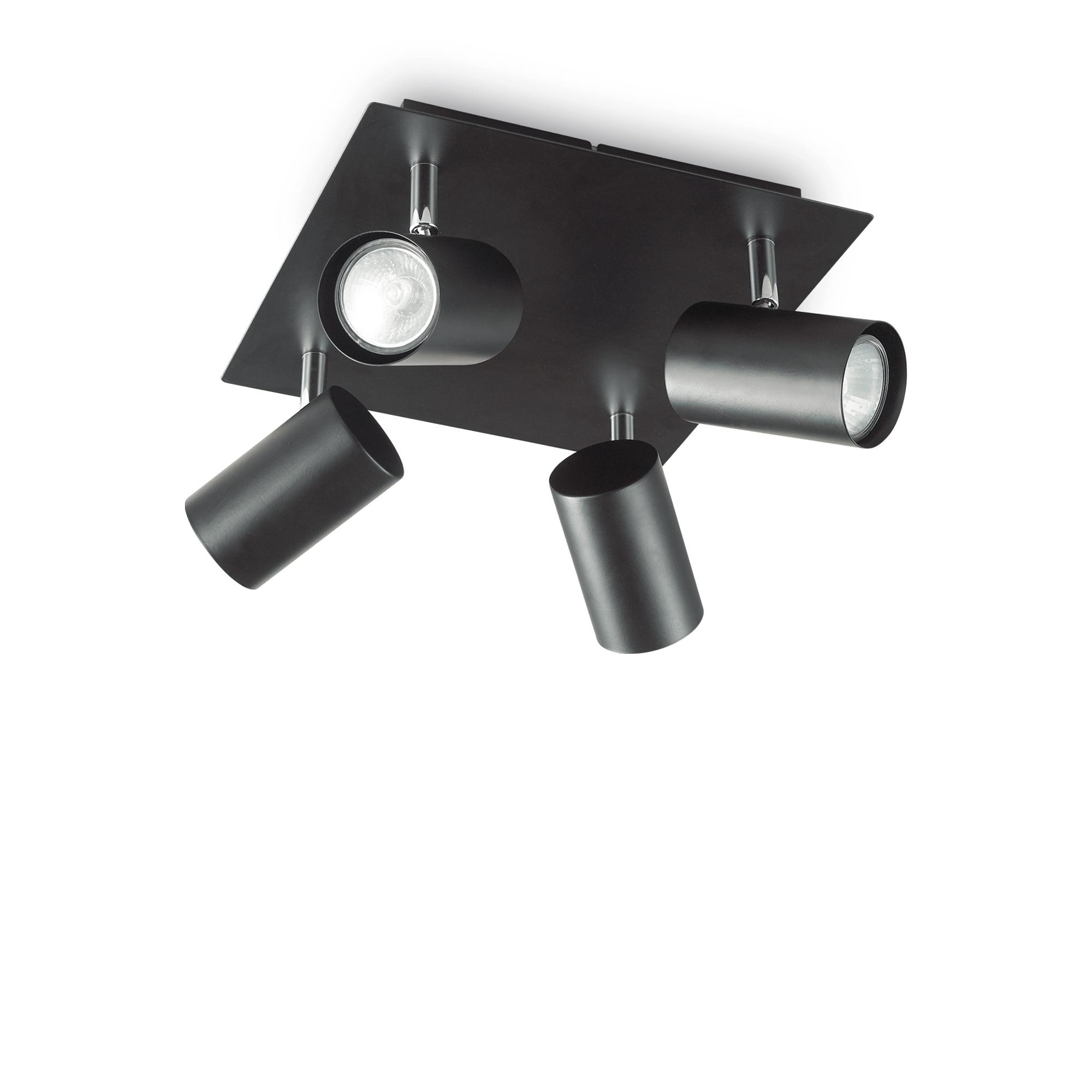SPOT PL4 NERO потолочный светильник черный