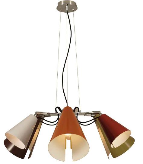 Потолочный светильник Aromas C1147/6 Lua Pendant lamp 6 arms red