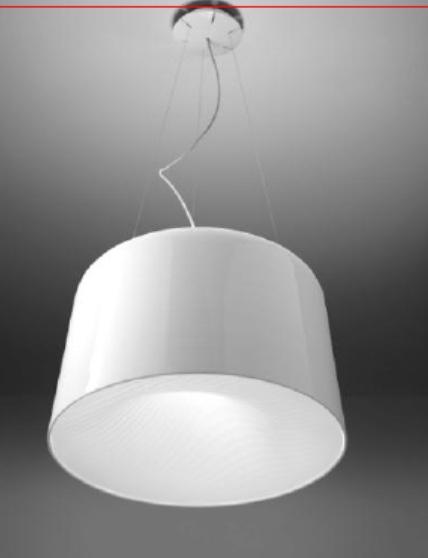 Светильник потолочный Artemide 1658010A Polinnia sospensione FLUO