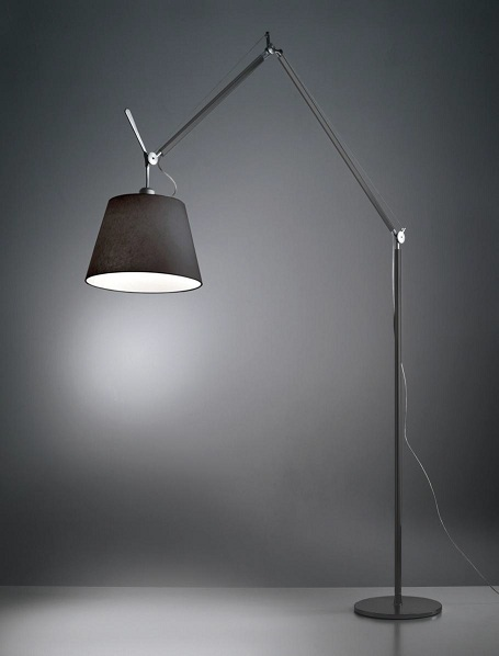 Светильник напольный Artemide TOLOMEO MEGA terra nero diffusore nero d360