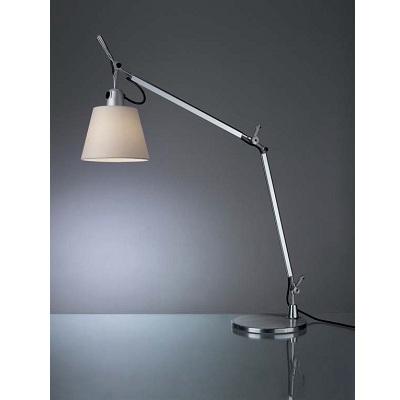 Светильник настольный Artemide TOLOMEO basculante tavolo con clamp+paralume grigio