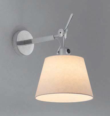 Светильник настенный Artemide TOLOMEO parete diffusore grigio d18