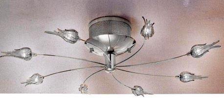 Светильник настенный Aureliano Toso Zashi 8 luci parete/soffitto cristallo/cromato