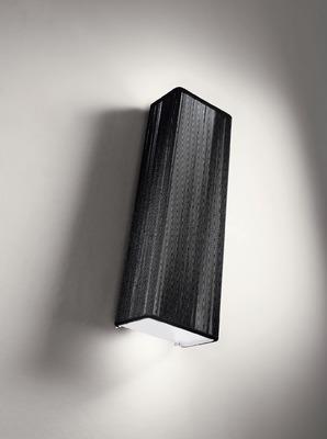 "AXOlight ""Clavius"" бра, чёрный шелк, плафон 60х12см, Е14 2х60W, хром"